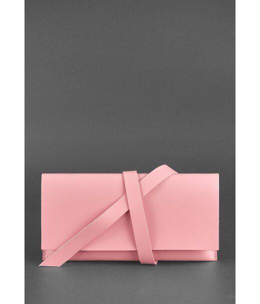 Кожаный женский тревел-кейс Voyager 1.0 Розовый - BN-TK-1-pink-peach BlankNote
