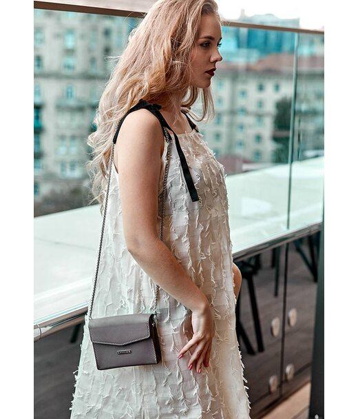 Жіноча шкіряна сумка поясна/кроссбоді Mini темно-бежева - BN-BAG-38-2-beige BlankNote