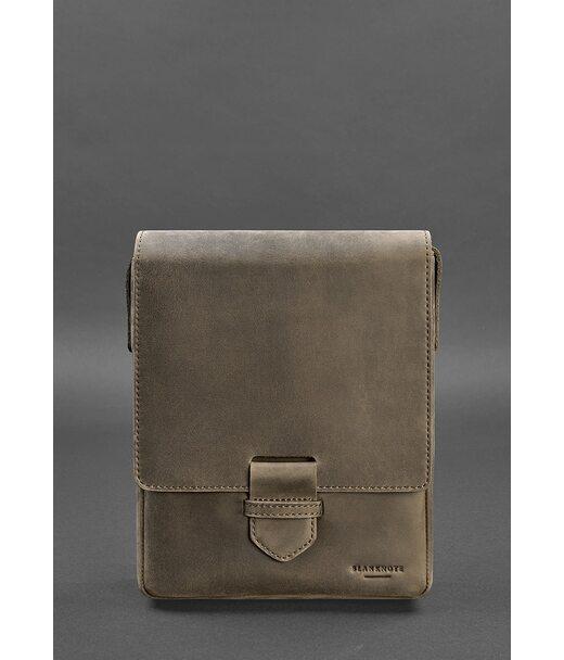 Чоловіча шкіряна сумка-месенджер Esquire темно-коричнева - BN-BAG-18-o BlankNote