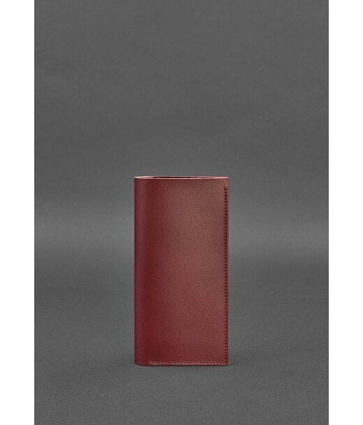 Кожаный женский тревел-кейс 3.1 бордовый Краст - BN-TK-3-1-vin BlankNote