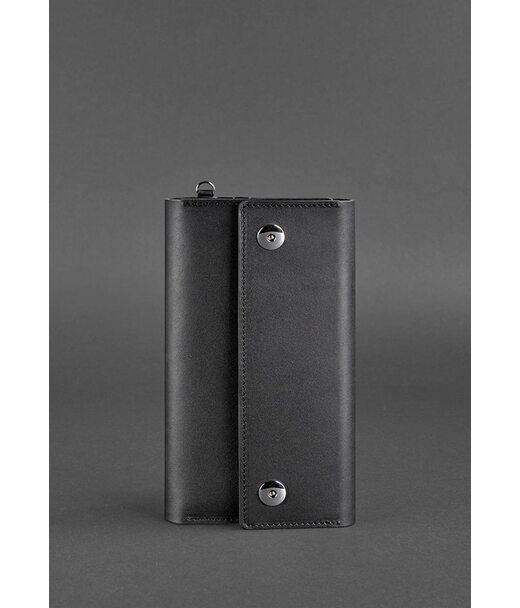 Кожаный клатч-органайзер (Тревел-кейс) 5.0 черный - BN-TK-5-g BlankNote