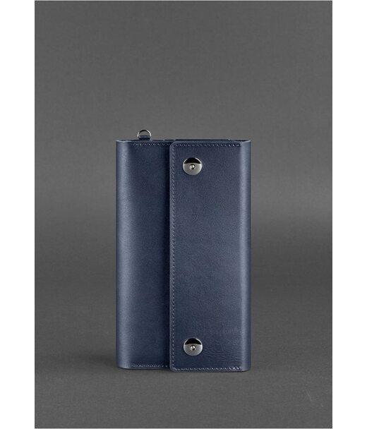 Кожаный клатч-органайзер (Тревел-кейс) 5.0 Темно-синий - BN-TK-5-navy-blue BlankNote