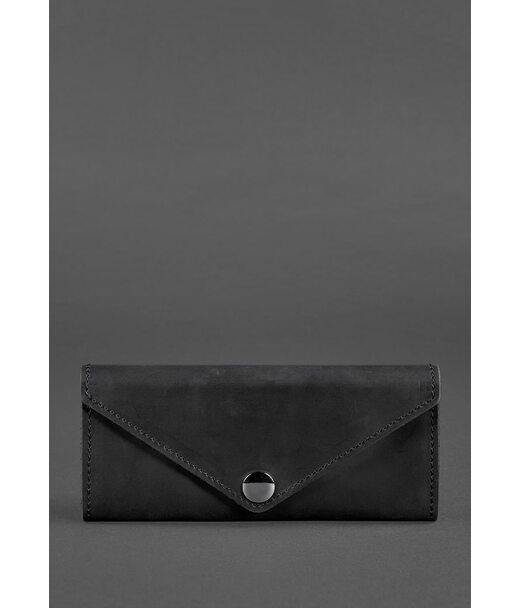 Жіночий шкіряний гаманець Керрі 1.0 чорний Crazy Horse - BN-W-1-g-kr BlankNote
