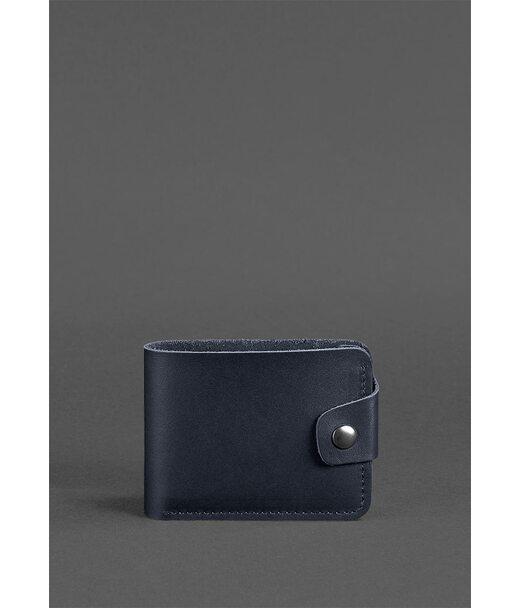 Шкіряне портмоне 4.3 темно-синє - BN-PM-4-3-navy-blue BlankNote