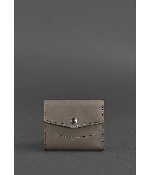 Жіночий шкіряний гаманець 2.1 темно-бежевий - BN-W-2-1-beige BlankNote