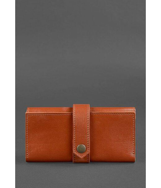 Шкіряне жіноче портмоне 3.0 світло-коричневе - BN-PM-3-k BlankNote