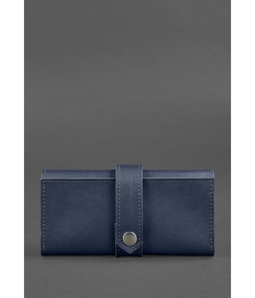 Шкіряне жіноче портмоне 3.0 темно-синє - BN-PM-3-navy-blue BlankNote