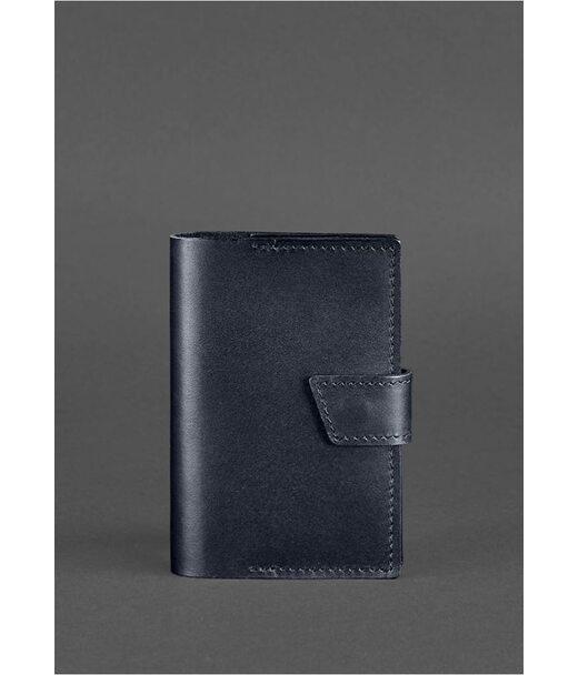 Кожаная обложка для паспорта 4.0 темно-синяя - BN-OP-4-navy-blue BlankNote