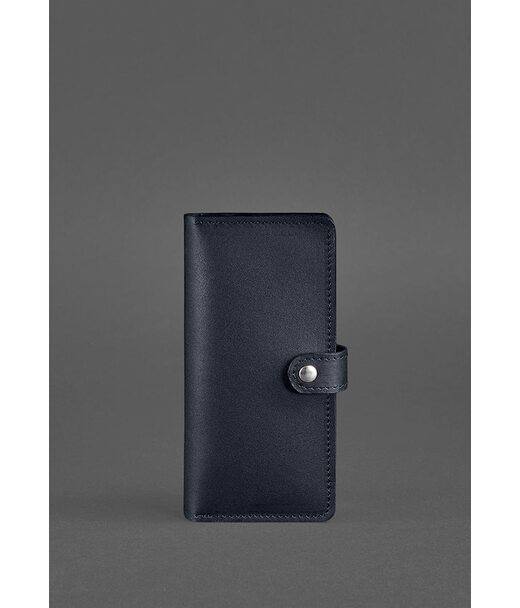 Кожаное женское портмоне 7.0 темно-синее - BN-PM-7-navy-blue BlankNote