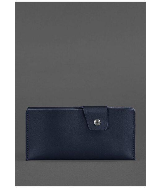 Шкіряне портмоне-купюрник 8.0 темно-синє - BN-PM-8-navy-blue BlankNote