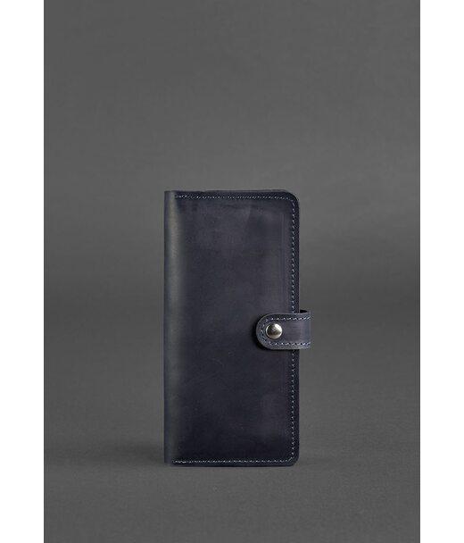 Кожаное женское портмоне 7.0 синее - BN-PM-7-nn BlankNote
