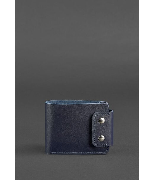 Чоловіче шкіряне портмоне Zeus 9.0 темно-синє - BN-PM-9-navy-blue BlankNote