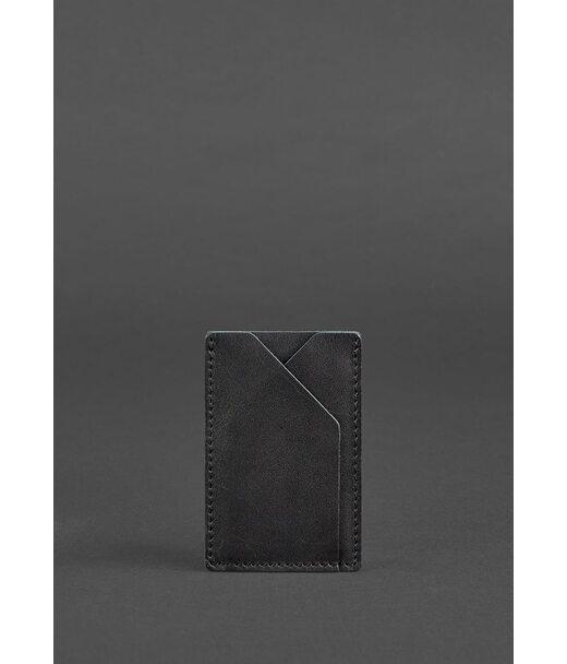 Кожаный кард-кейс 8.0 черный - BN-KK-8-g BlankNote