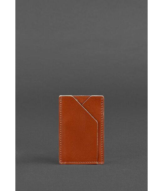 Кожаный кард-кейс 8.0 светло-коричневый - BN-KK-8-k BlankNote