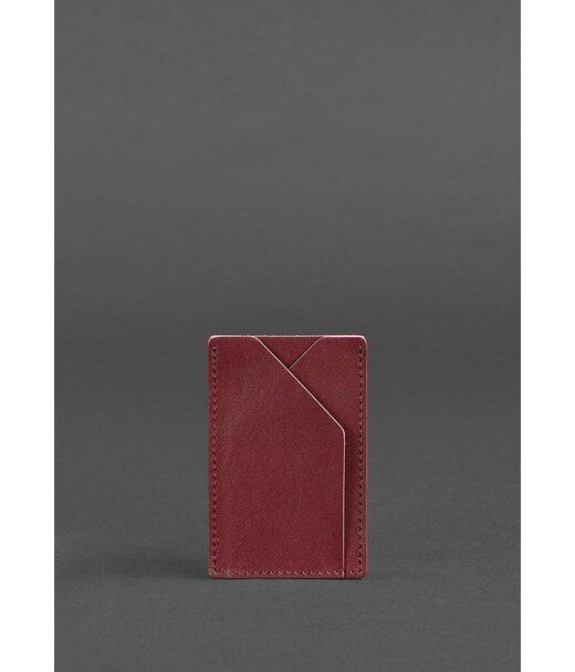 Женский кожаный кард-кейс 8.0 бордовый - BN-KK-8-vin BlankNote