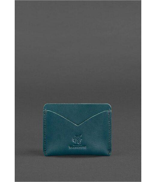 Женский кожаный кейс-слим 5.0 зеленая - BN-KK-5-malachite BlankNote
