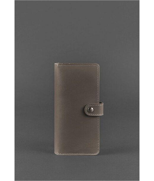 Кожаное женское портмоне 7.0 темно-бежевое - BN-PM-7-beige BlankNote