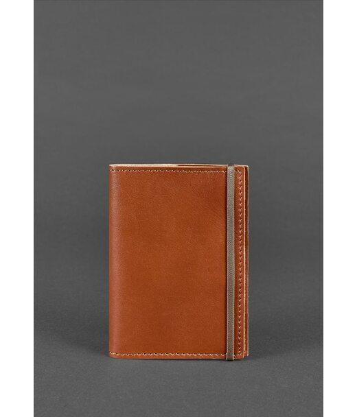 Кожаная обложка для паспорта 1.0 светло-коричневая - BN-OP-1-k BlankNote