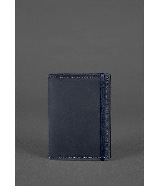 Кожаная обложка для паспорта 2.0 синяя - BN-OP-2-nn BlankNote