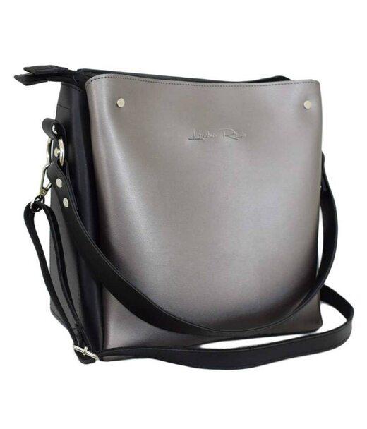 612 сумка черная серебряная Lucherino