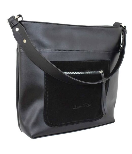 611 сумка замш черная Lucherino