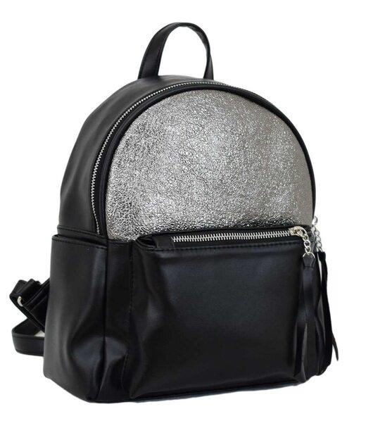 450 рюкзак черный серебро н Lucherino