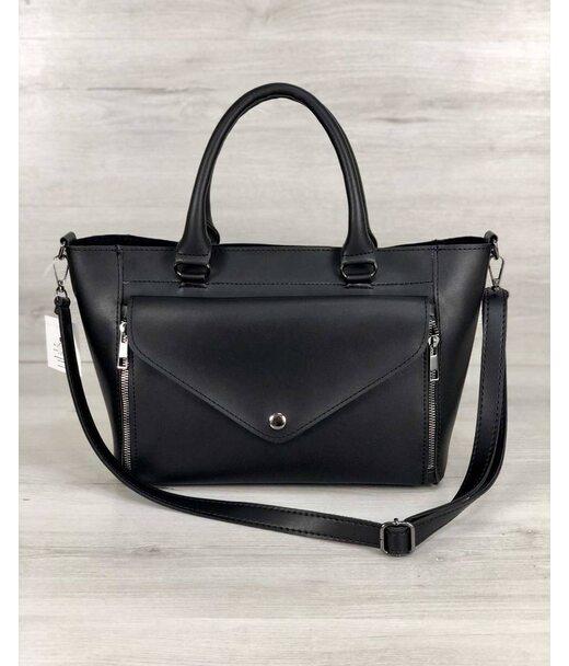 Стильна молодіжна сумка Сагарі чорного кольору WeLassie