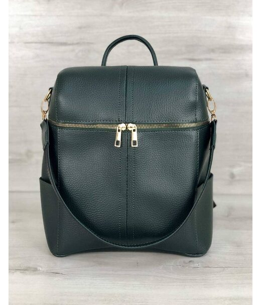 Молодіжна сумка-рюкзак Фрогі зеленого кольору WeLassie