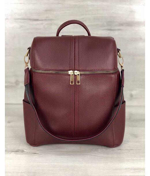 Молодіжна сумка-рюкзак Фрогі бордового кольору WeLassie