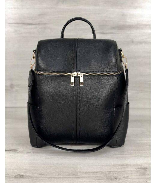 Молодіжна сумка-рюкзак Фрогі чорного кольору WeLassie