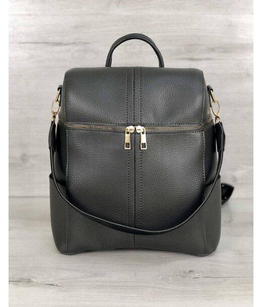 Молодіжна сумка-рюкзак Фрогі сірого кольору WeLassie