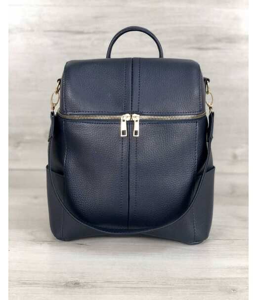 Молодіжна сумка-рюкзак Фрогі синього кольору WeLassie