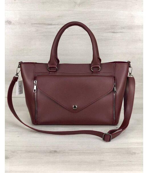 Стильна молодіжна сумка Сагарі бордового кольору WeLassie
