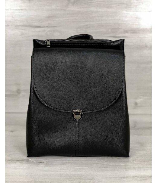 Молодіжна сумка-рюкзак Ешбі чорного кольору WeLassie