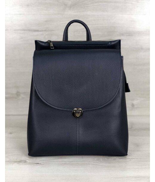 Молодіжна сумка-рюкзак Ешбі синього кольору WeLassie