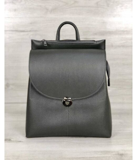 Молодіжна сумка-рюкзак Ешбі сірого кольору WeLassie