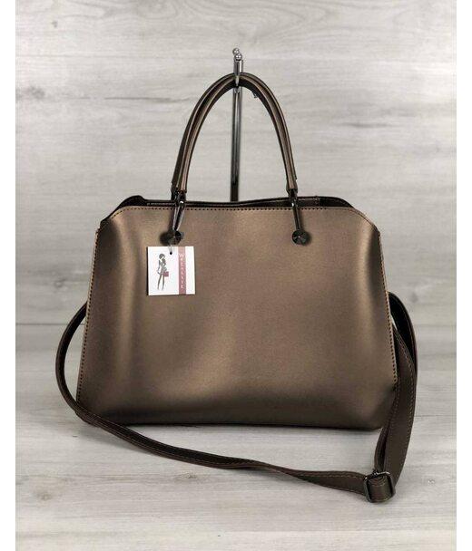 Стильна жіноча сумка Іларія бронзового кольору WeLassie