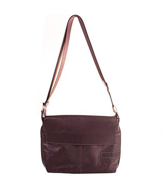 Кожаная мужская сумка-почтальонка ETERNO (ЭТЭРНО) ERM508BR