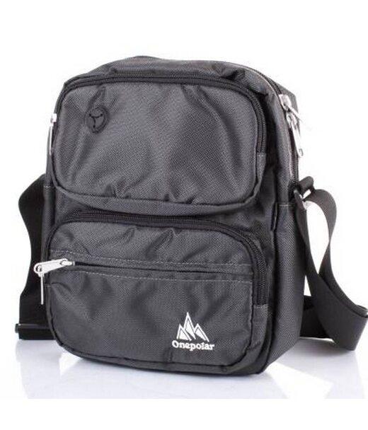 Мужская спортивная сумка ONEPOLAR (ВАНПОЛАР) W5630-grey