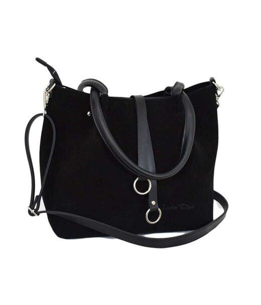 620 сумка замш черная Lucherino
