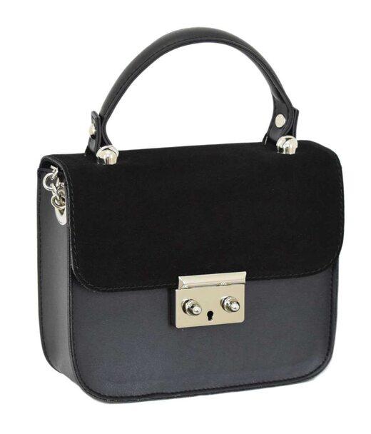 623 сумка замша черная Lucherino