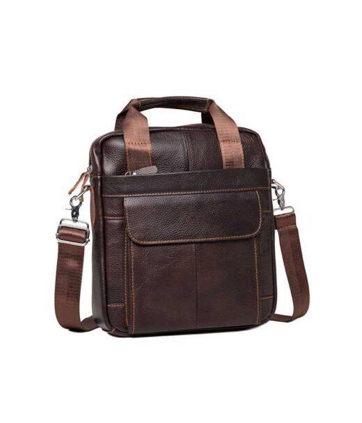 Коричневый кожаный мужской мессенджер Tiding Bag M38-8861B