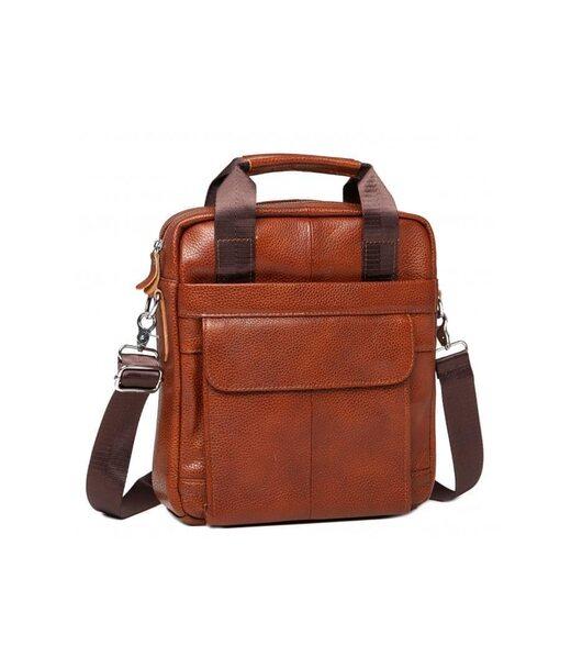 Коричневый кожаный мужской мессенджер Tiding Bag M38-8861LB