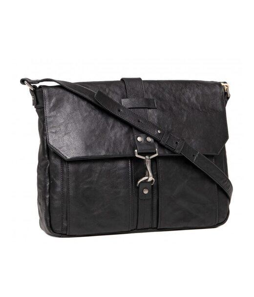 Черный кожаный мужской мессенджер Blamont P531711
