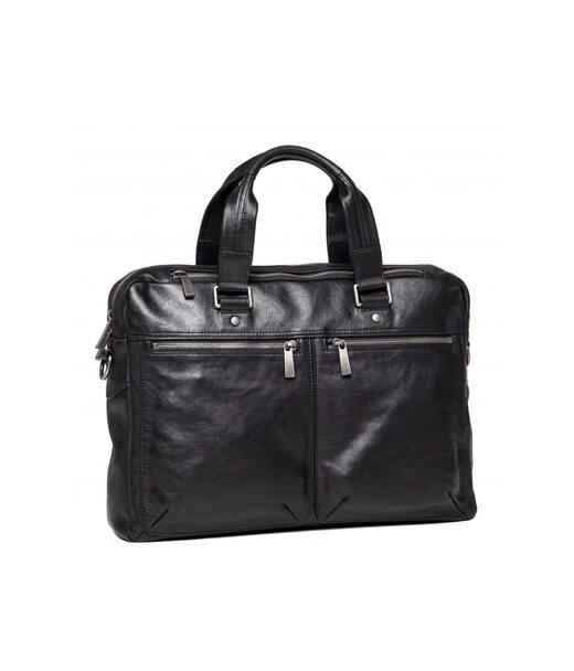 Чорна шкіряна чоловіча сумка Blamont P5912071