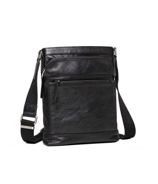 Черный кожаный мужской мессенджер Blamont P7877721