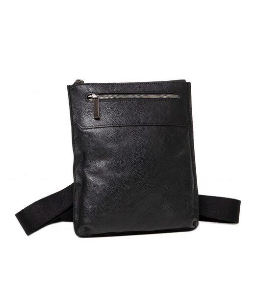 Черный кожаный мужской мессенджер Blamont P7912011
