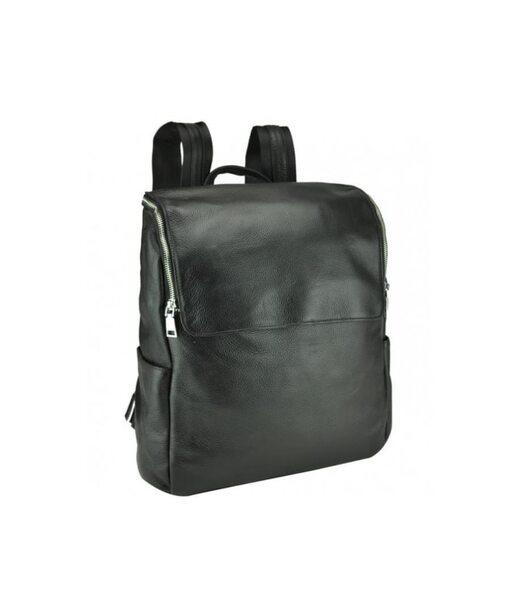Чорний шкіряний чоловічий рюкзак Tiding Bag A25F-68012A