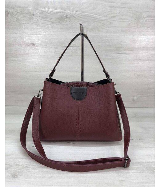 Молодіжна жіноча сумка Іліна бордового кольору WeLassie