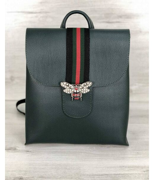 Рюкзак молодіжний Барб зеленого кольору (нікель) WeLassie